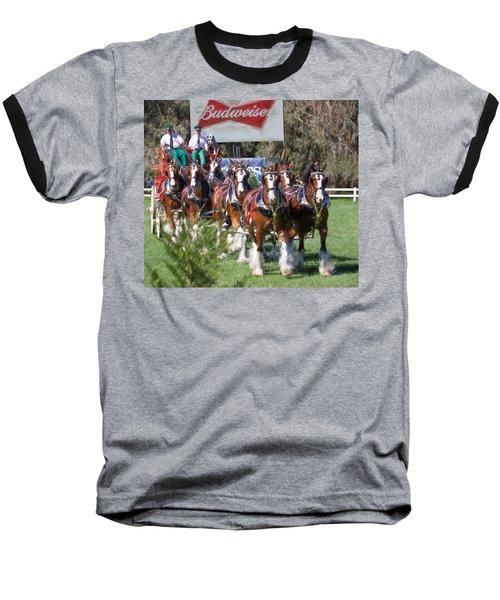Budweiser Clydesdales Perfection Baseball T-Shirt