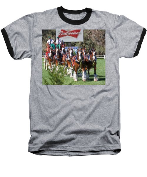 Budweiser Clydesdales Perfection Baseball T-Shirt