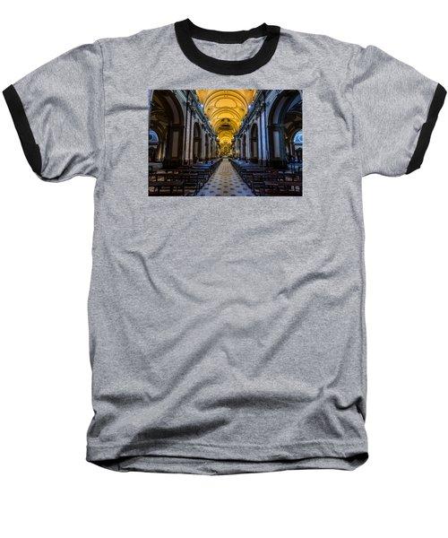 Buenos Aires Metropolitan Cathedral Baseball T-Shirt by Randy Scherkenbach