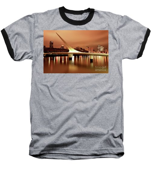Buenos Aires On Fire Baseball T-Shirt by Bernardo Galmarini