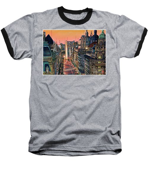 Buenos Aires Twilight Baseball T-Shirt