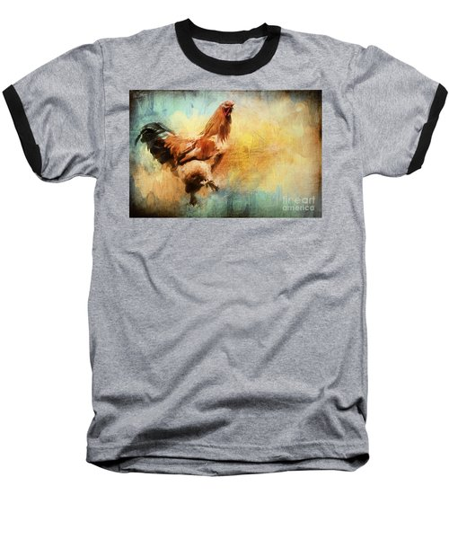 Buff Brahma Mrs. Darwin's Rooster  Baseball T-Shirt
