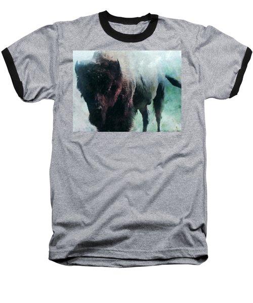 Buffalo American Bison Baseball T-Shirt by Michele Carter