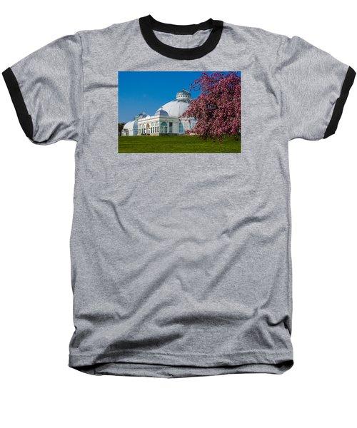 Buffalo Botanical Gardens North Lawns Baseball T-Shirt by Don Nieman