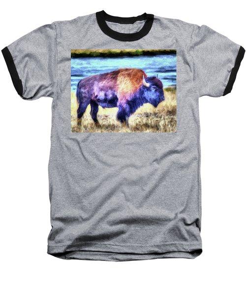 Buffalo Fine Art Print Baseball T-Shirt