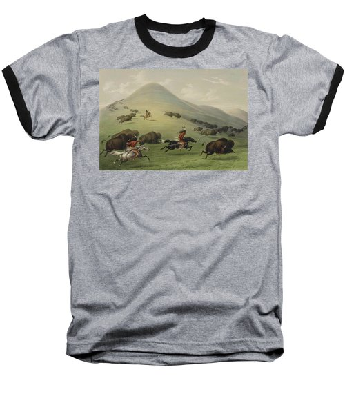 Buffalo Hunt Baseball T-Shirt