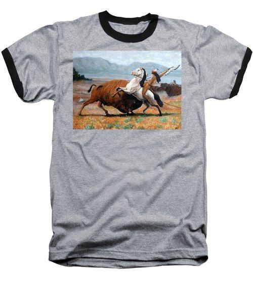 Buffalo Hunt Baseball T-Shirt