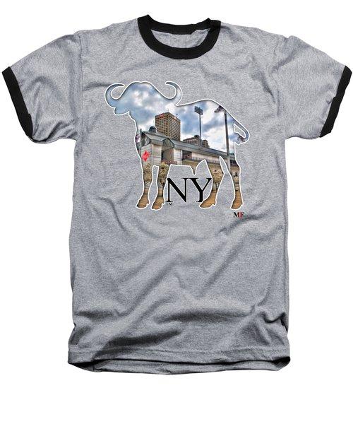 Buffalo Ny Coca Cola Field  Baseball T-Shirt by Michael Frank Jr