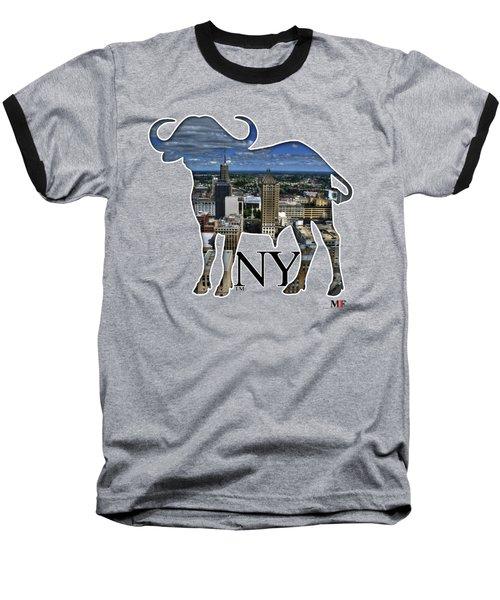 Buffalo Ny Court St Baseball T-Shirt by Michael Frank Jr