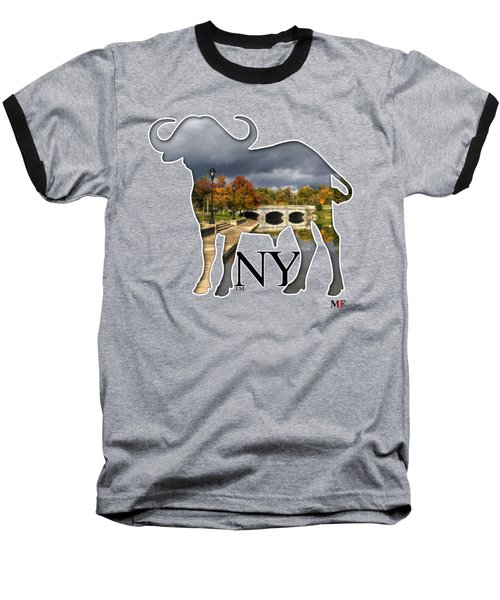 Buffalo Ny Hoyt Lake Baseball T-Shirt by Michael Frank Jr