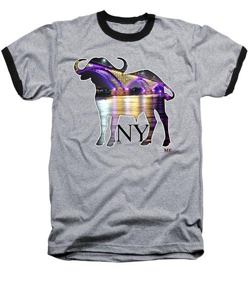 Buffalo Ny Peace Bridge  Baseball T-Shirt by Michael Frank Jr