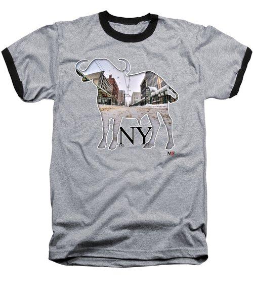 Buffalo Ny Snowy Main St Baseball T-Shirt by Michael Frank Jr