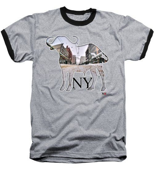 Buffalo Ny Snowy Main St Baseball T-Shirt
