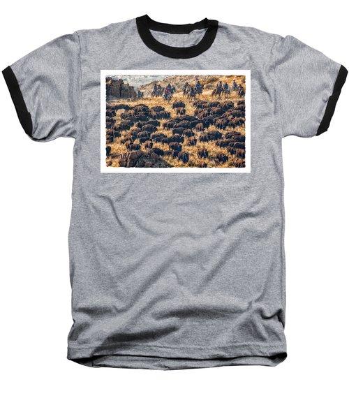 Baseball T-Shirt featuring the photograph Buffalo Roundup by Kristal Kraft