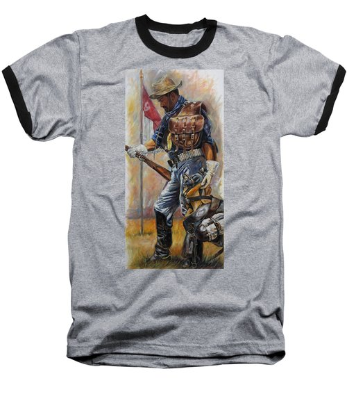Buffalo Soldier Outfitted Baseball T-Shirt by Harvie Brown