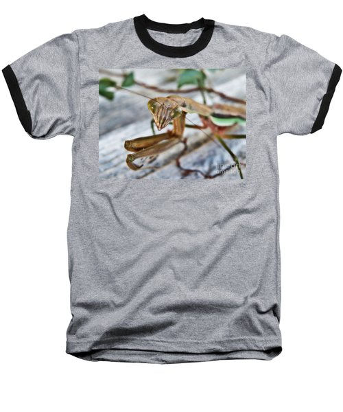Bug Eyed  Baseball T-Shirt by Christy Ricafrente