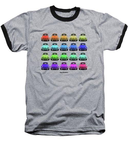 Bug Infestation. Baseball T-Shirt by Mark Rogan
