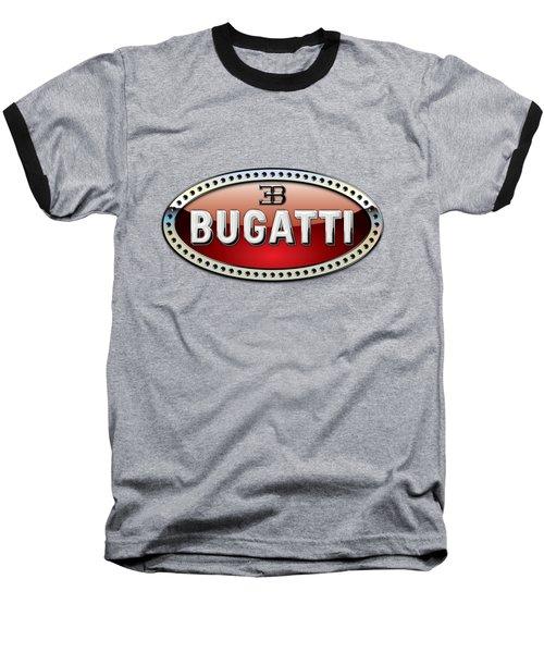 Bugatti - 3 D Badge On Red Baseball T-Shirt