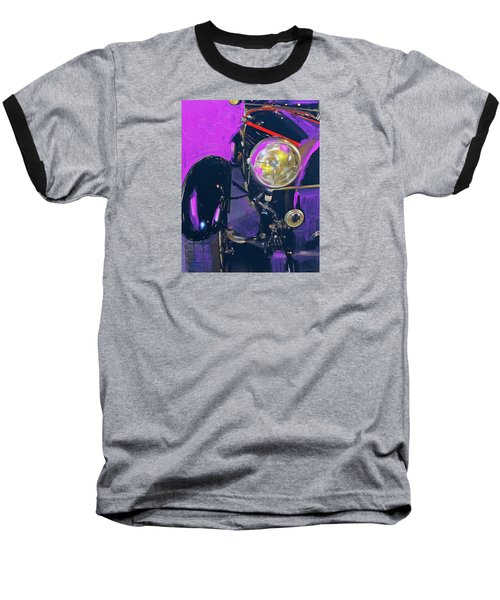 Bugatti Abstract Purple Baseball T-Shirt by Walter Fahmy