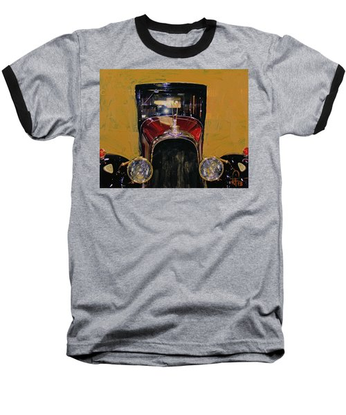 Baseball T-Shirt featuring the photograph Bugatti Vintage Maroon by Walter Fahmy