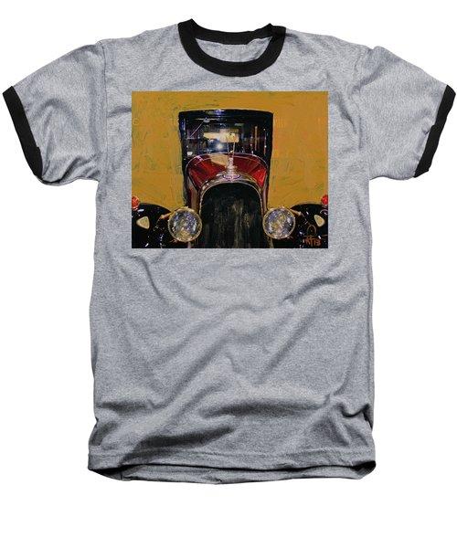 Bugatti Vintage Maroon Baseball T-Shirt