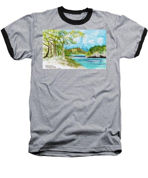 Bugny Trees At Kanumera Bay, Ile Des Pins Baseball T-Shirt