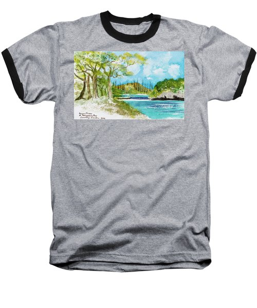 Bugny Trees At Kanumera Bay, Ile Des Pins Baseball T-Shirt