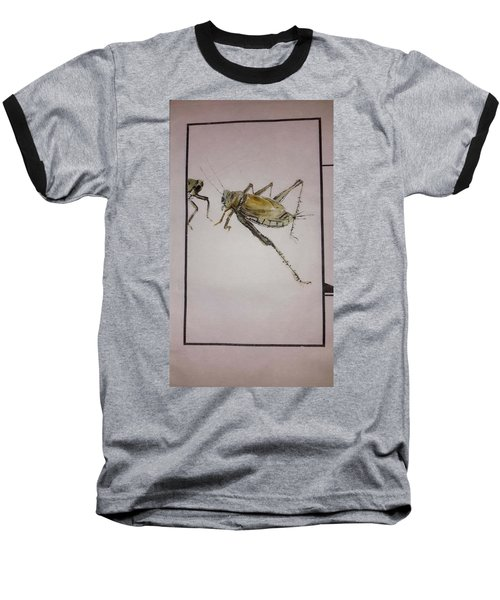 Baseball T-Shirt featuring the painting Bugs And Blooms Album by Debbi Saccomanno Chan