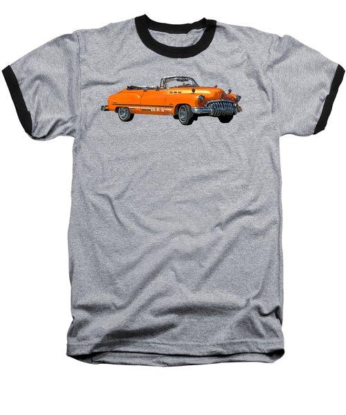 Buick Art In Orange Baseball T-Shirt