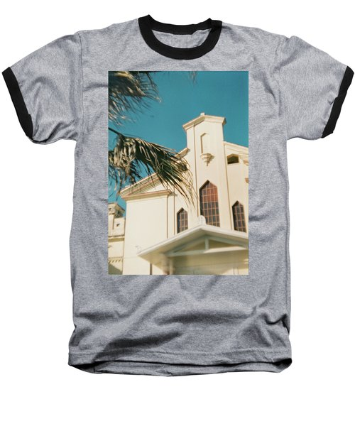 Building Behind Palm Tree In Ostia, Rome Baseball T-Shirt