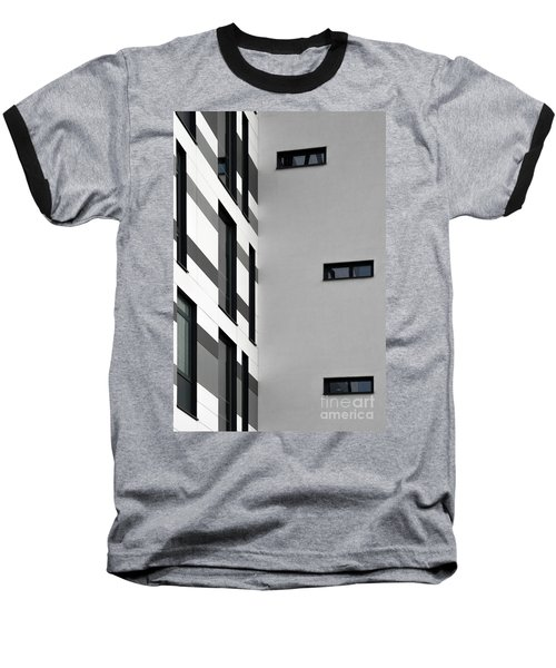 Baseball T-Shirt featuring the photograph Building Block - Black And White by Wendy Wilton