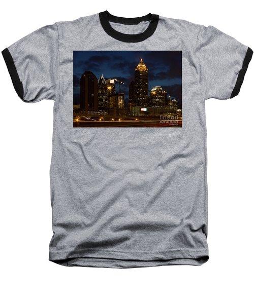 Baseball T-Shirt featuring the photograph Building Boom Midtown Atlanta Construction Art by Reid Callaway