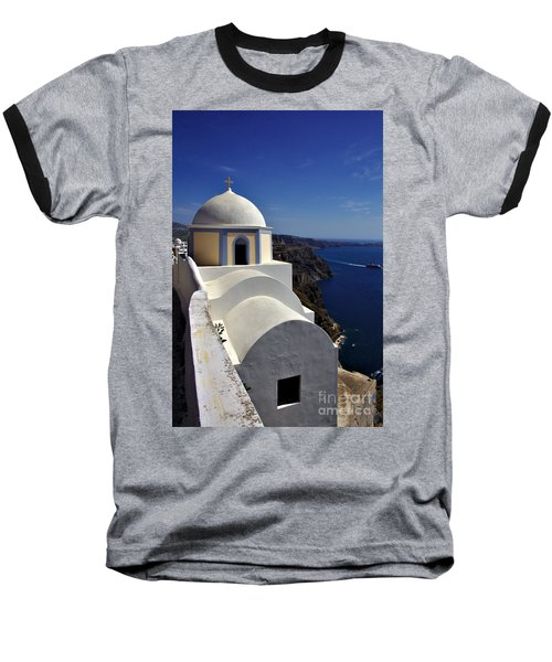 Building In Fira Baseball T-Shirt