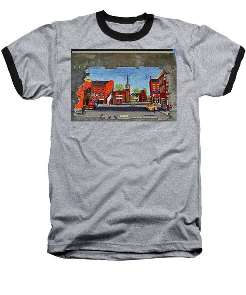 Building Mural - Cuba New York 001 Baseball T-Shirt