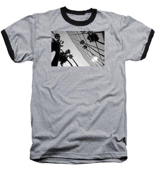Building On Hollywood 3 Baseball T-Shirt by Micah May