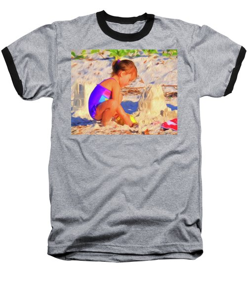 Building Sand Castles Baseball T-Shirt
