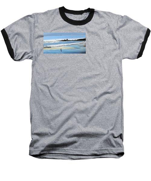 Bull Beach 2 Baseball T-Shirt by Marilyn McNish