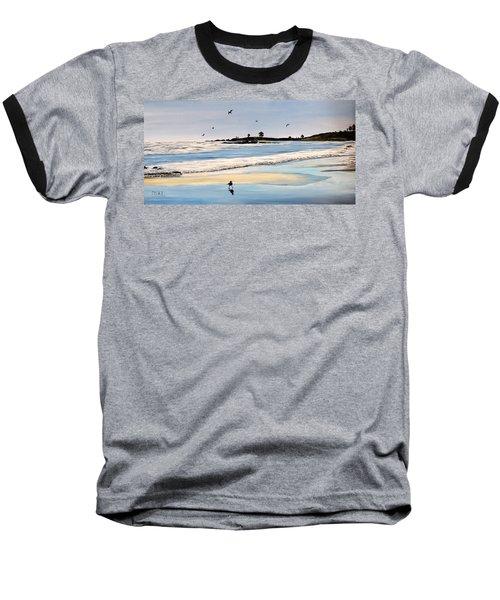 Bull Beach Baseball T-Shirt by Marilyn McNish