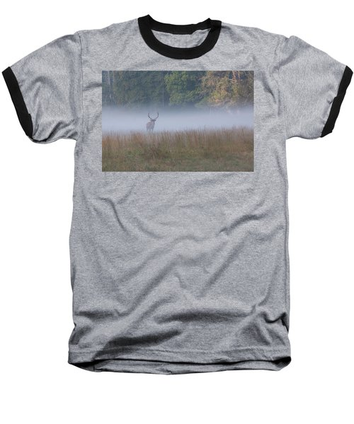 Bull Elk Disappearing In Fog - September 30 2016 Baseball T-Shirt