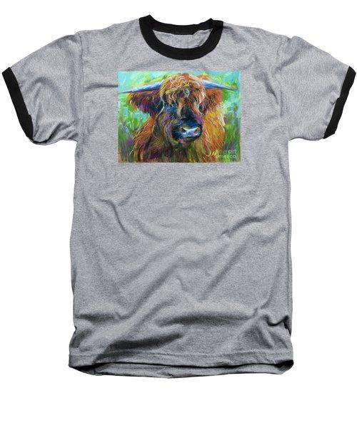 Bull Baseball T-Shirt by Jieming Wang