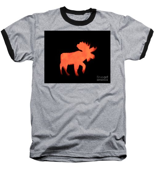 Bull Moose Pumpkin Baseball T-Shirt