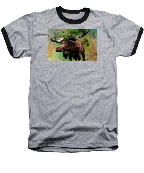 Baseball T-Shirt featuring the digital art Bull Moose by Robin Regan