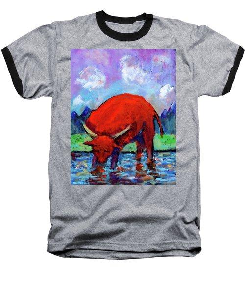 Bull On The River Baseball T-Shirt