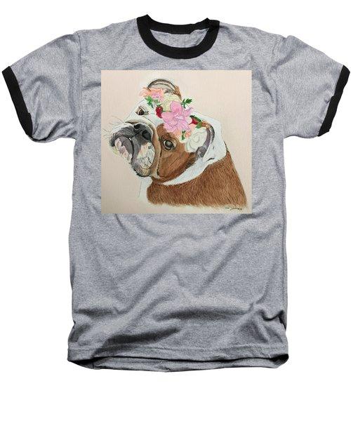 Bulldog Bridesmaid Baseball T-Shirt
