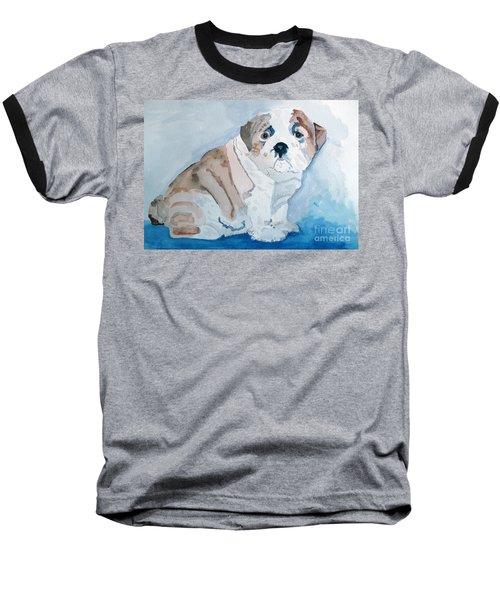 Bulldog Puppy Baseball T-Shirt