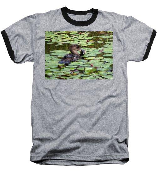 Bullfrog For Breakfast Baseball T-Shirt by I'ina Van Lawick
