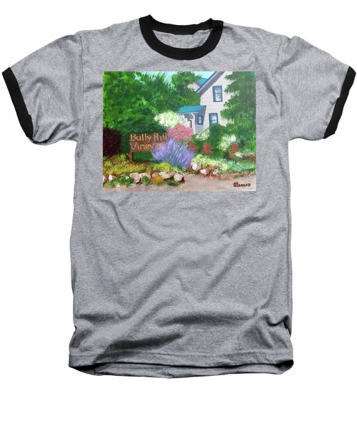 Baseball T-Shirt featuring the painting Bully Hill Vineyard by Cynthia Morgan