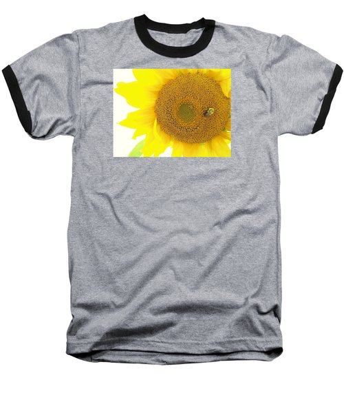Bumble Bee Sunflower Baseball T-Shirt
