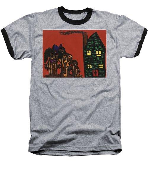 Bumpkin Dwellings Baseball T-Shirt by Darrell Black
