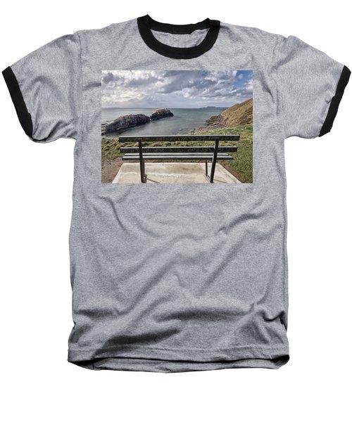 Bundoran - View Over The Diving Platform At Rougey Rocks Baseball T-Shirt